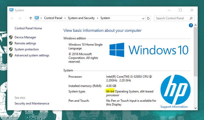 64 Bit Version UEFI - dual boot windows 10 and Ubuntu