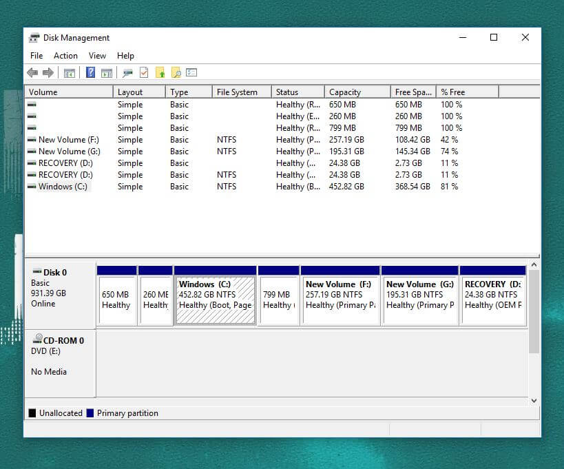 C Drive How to Shrink windows 10