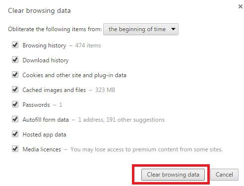 Clear browsing data make chrome faster