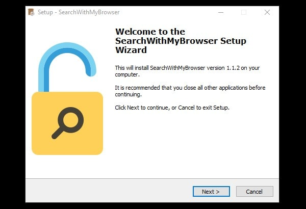 Search with my Browser Setup - change Cortana Default Browser