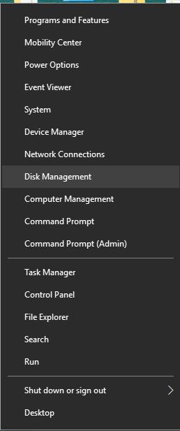 Shrink Windows 10 Partition - Disk Management