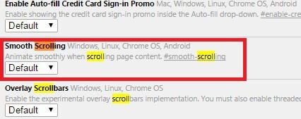 Smooth Scrolling- MAke chrome Faster