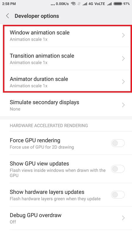 Best Ways To Clear RAM On Android animation close