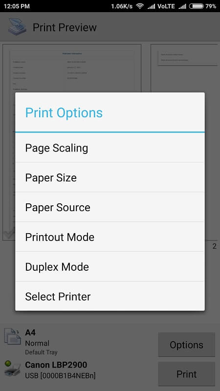 Print from Android 7