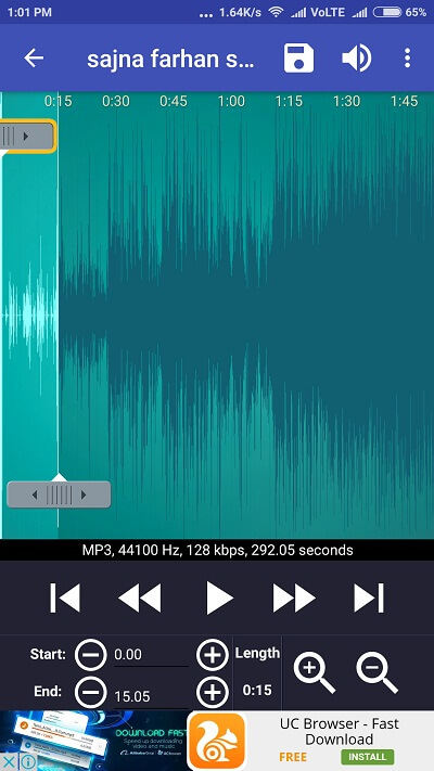 cut music editing mode