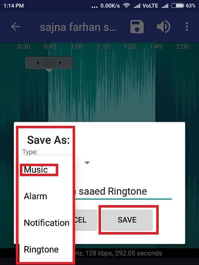 save music - cut music