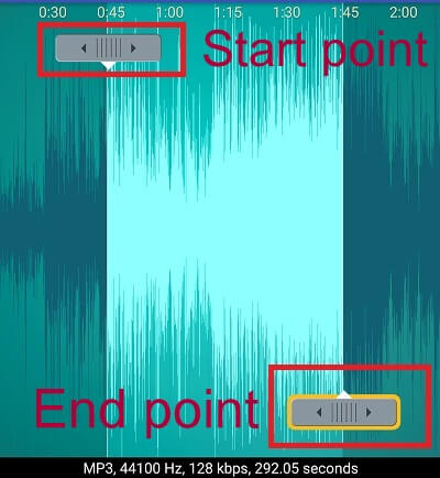 start end point button cut music
