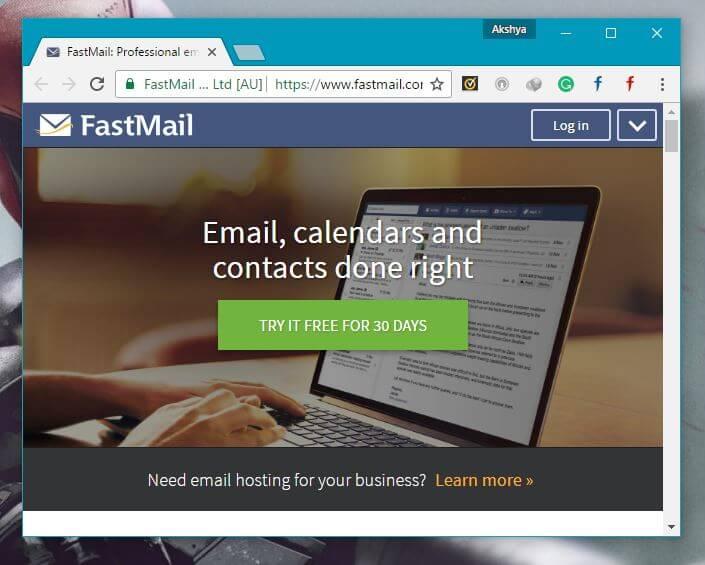 FastMail Best Gmail Alternatives