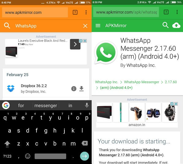 Old WhatsApp Status - App Download