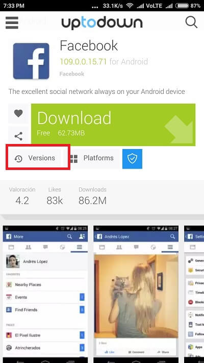 Uptodown Old versions of Android Apps 1