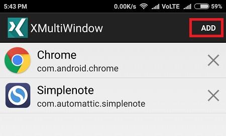 add apps - Multi-Window