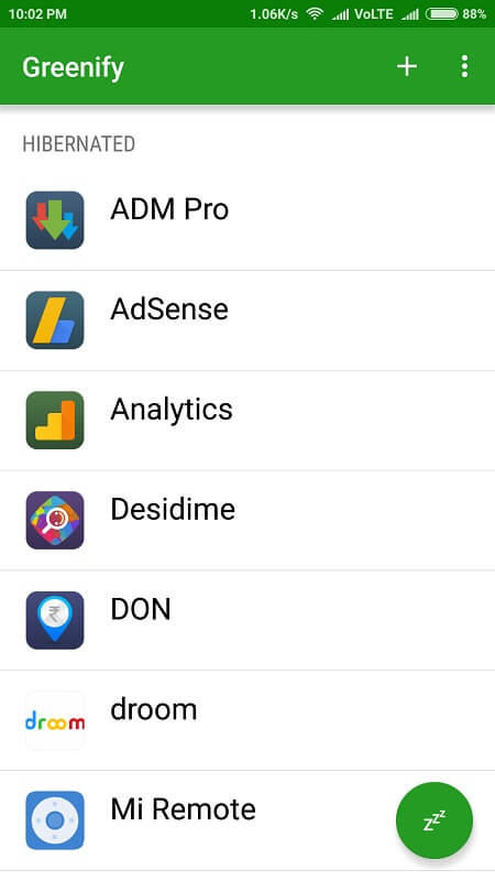 greenify - Fix Android OS Battery Drain