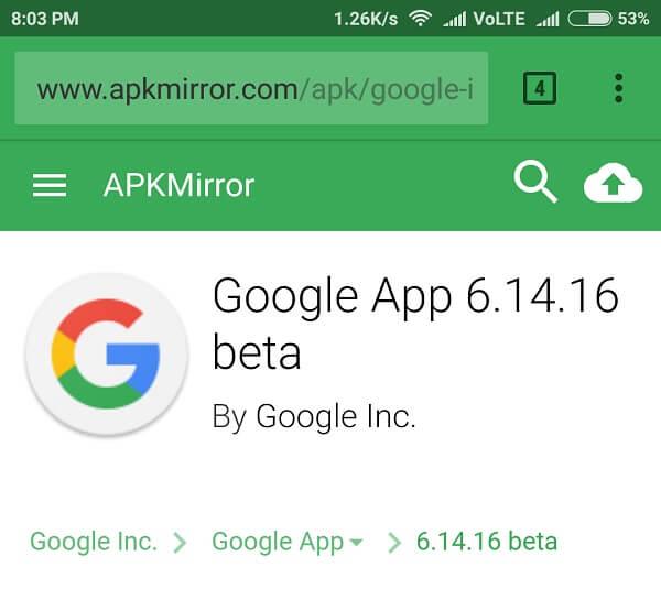 Get Google Assistant google app