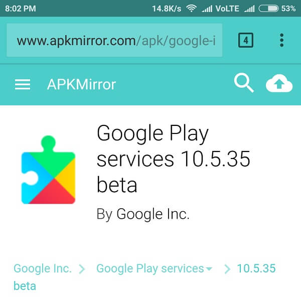 Get Google Assistant play services