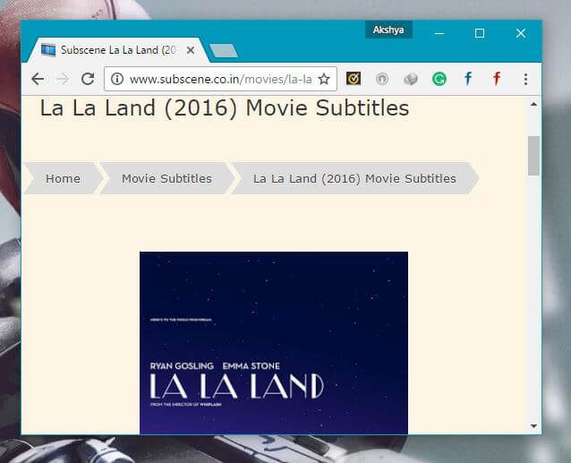 La La Land add subtitles to video