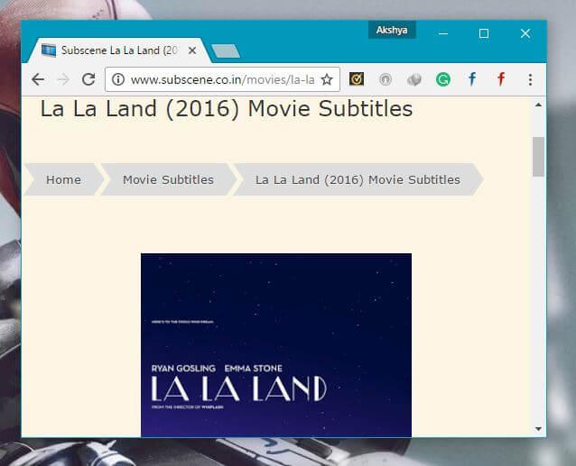 La La Land add subtitles to video