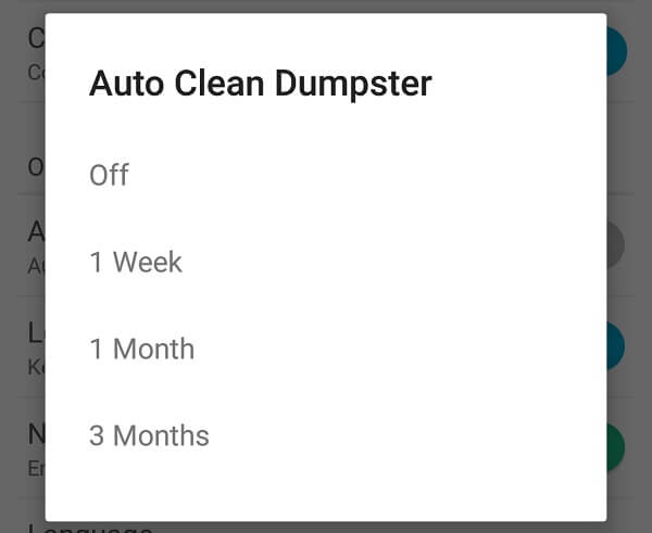 Android Recycle Bin - Auto Clean