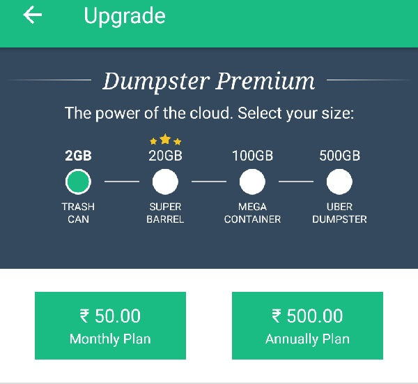 Android Recycle Bin - Dumpster Plan