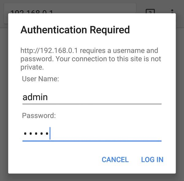Show wifi password Android Router admin panel