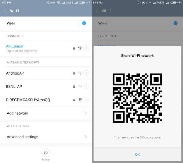 Show wifi password Android Share wifi pass
