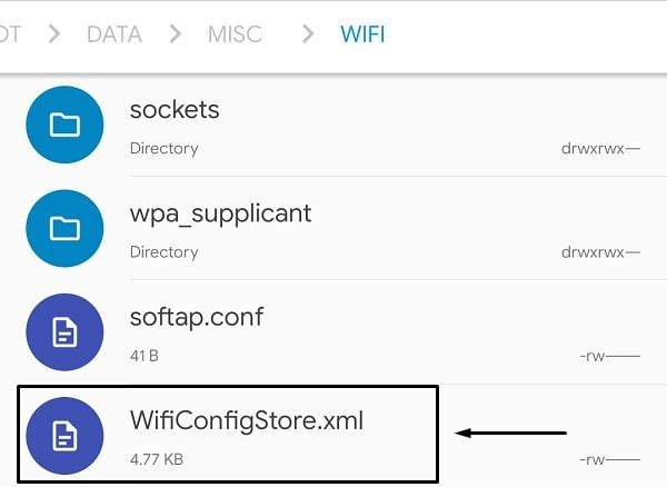 WiFiConfigStore File - Show WiFi Password