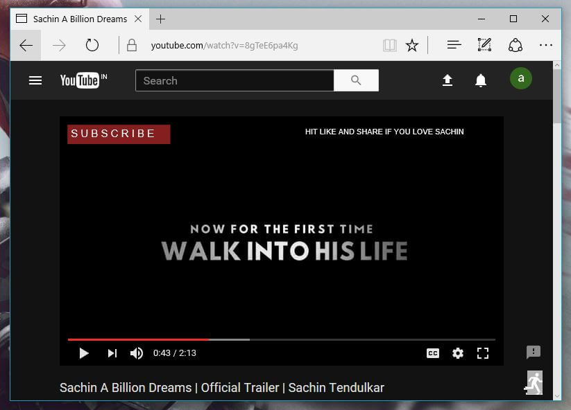 YouTube Dark Mode edge browser