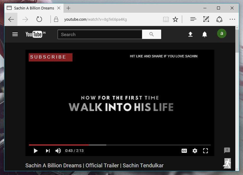 YouTube Dark Mode edge browser