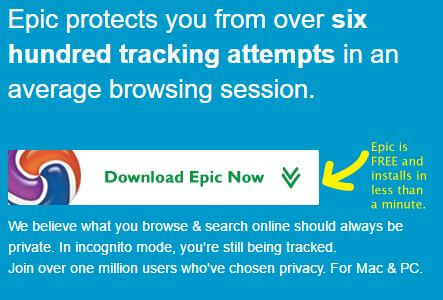 anonymous browser epic