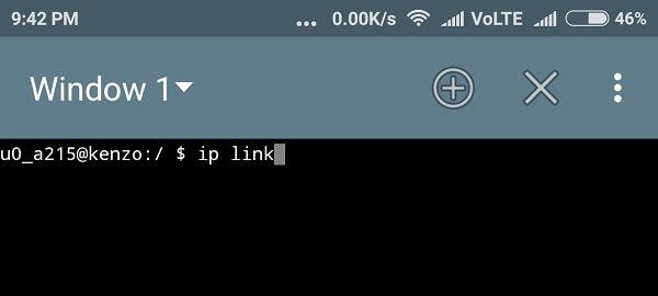 change mac address android Terminal Emulator 1