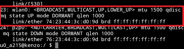 change mac address android Terminal Emulator 2