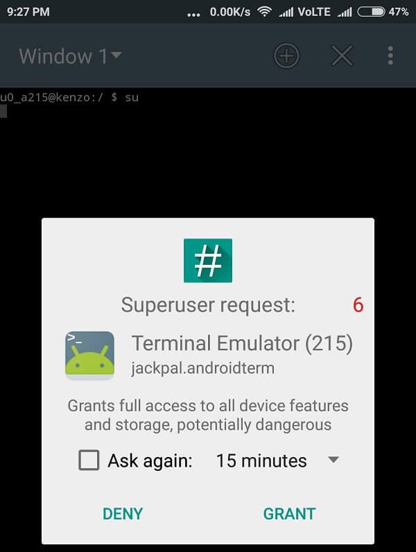 change mac address android Terminal Emulator 3