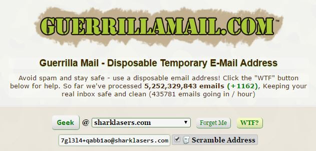 guerrillamail - Temp Mail