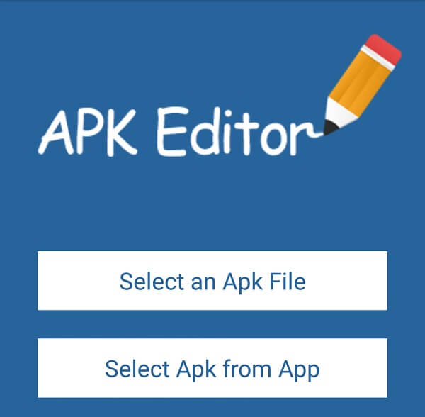 rename android app - APK editor pro