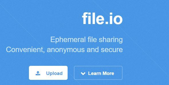 Anonymous File Sharing - File.io