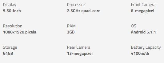 Lenovo Zuk Z1 specs - Best Budget Smartphone