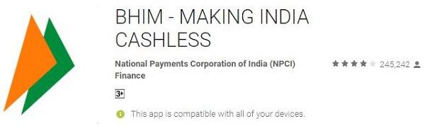 Money Transfer App - BHIM