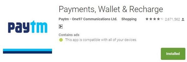 Money Transfer App - Paytm