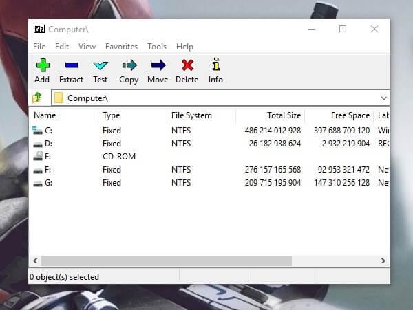 7Z File Archiver - WinRAR and WinZip Alternatives