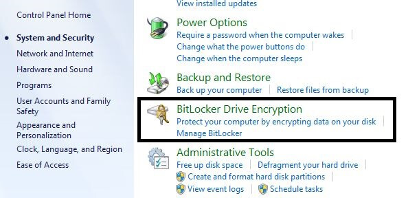 Bitlocker - Encryption Software