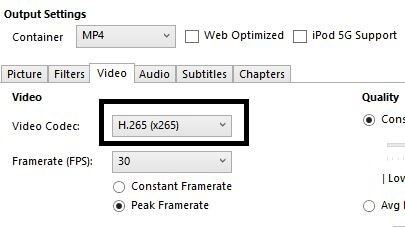 HEVC- Video compression software