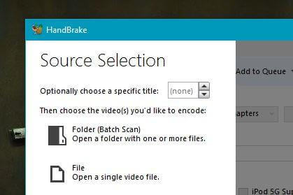 HandBrake File - Video compression software