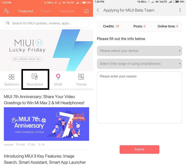 Install MIUI 9 Beta ROM - Mi forum