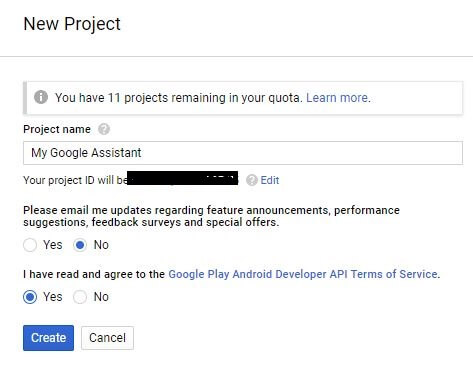 project name - Google Assistant for PC.