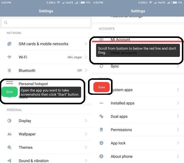 scrolling screenshot - LongShot 2