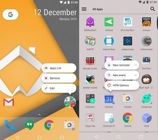 ADW Launcher 2 - Google Now Launcher Alternatives