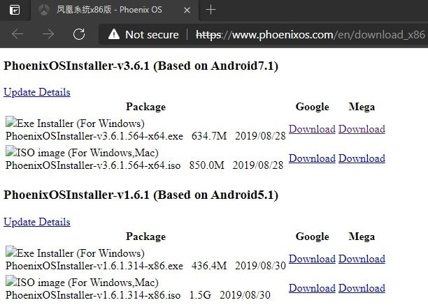Download Phoenix OS - Phoenix OS Download Links