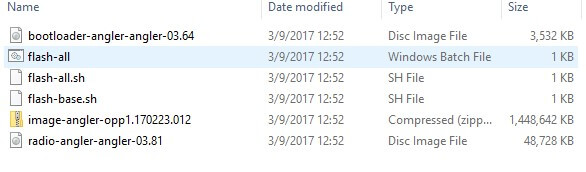 Install Android Oreo - Extract Files