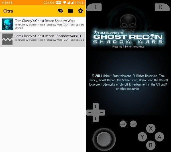 Nintendo 3DS Emulator - Tom Clancy's Ghost Recon shadow wars
