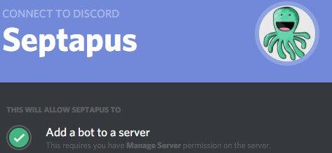Septapus - Best Discord bots