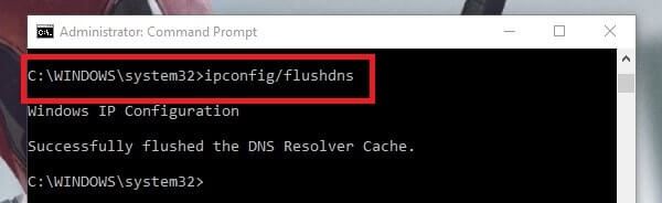 Flush DNS - DNS PROBE FINISHED NO INTERNET